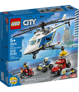 LEGO City Police Helicopter Chase Building Kit