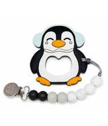 Loulou Lollipop Penguin Silicone Teether Black Blue