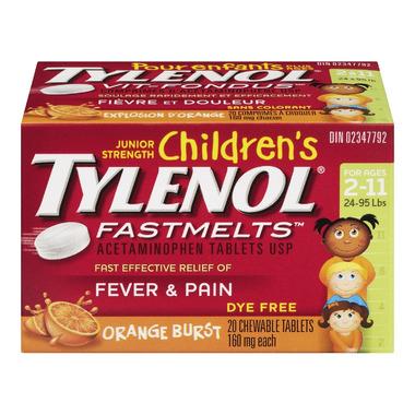 Children\'s Tylenol Fever & Pain Fastmelts