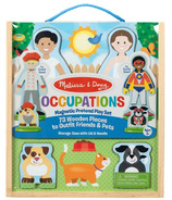 Melissa & Doug Occupations Magnetic Dress-Up Wooden Dolls