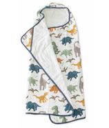 Little Unicorn Cotton Hooded Towel Big Kid Dino Friends