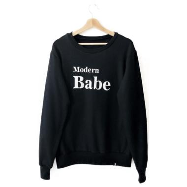 Today\'s Modern Bebe Adult Crew Neck Sweater Modern Babe Black