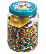 Hama Blue Tub with 7000 Beads & Peg Boards