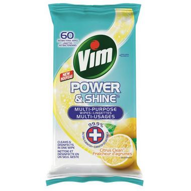 Vim Lemon Antibacterial Wipes