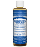 Dr. Bronner's Organic Pure Castile Liquid Soap Peppermint 8 Oz