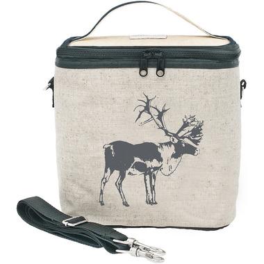 SoYoung Raw Linen Grey Moose Large Cooler Bag