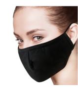 Keep Leaf Cotton Face Mask Black