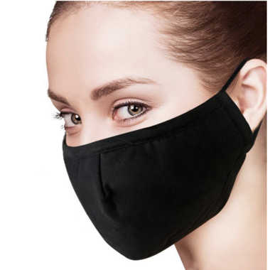 Keep Leaf Cotton Face Mask Black