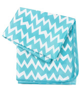 Bumkins Splat Mat Blue Chevron