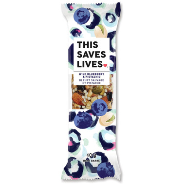 This Saves Lives Wild Blueberry & Pistachio Bar