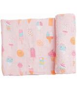 Angel Dear Ice Cream Swaddle Blanket Pink