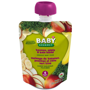 Baby Gourmet Banana, Apple and Kale Blend Baby Food