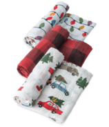 Little Unicorn Cotton Muslin Swaddle Holiday Haul Set