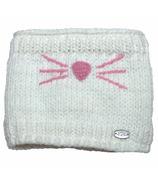 Calikids Iceland Acrylic Knit & Berber Neck Warmer White