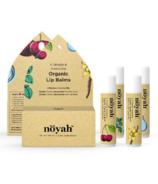 Noyah Organic Lip Balms 4 Flavours