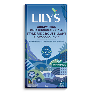 Lily\'s Sweets Dark Chocolate Bar Crispy Rice