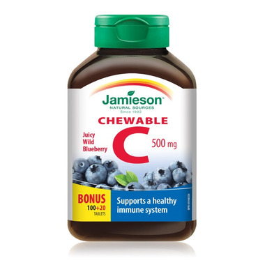 Jamieson Vitamin C Chewable - Wild Blueberry Bonus Pack
