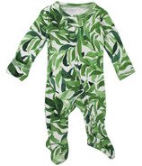 L'oved Baby Organic Zipper Footed Overall Kelp