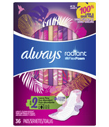 Always Radiant Pads Heavy Flow Absorbency Scented