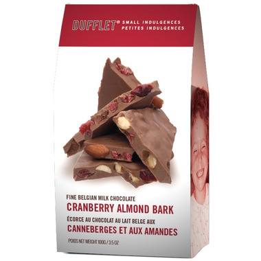 Dufflet Cranberry and Milk Chocolate Almond Bark