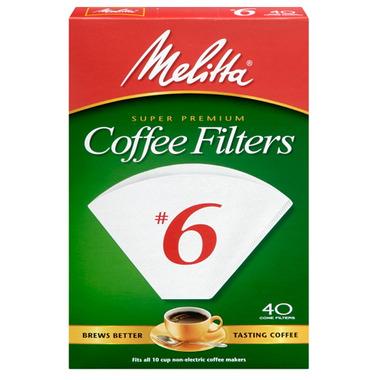 Melitta No. 6 Cone Coffee Filters