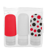 Maple Leaf Travel Squeezable Silicone Bottle Set
