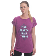Gaiam Intention Tee Striking Purple Heather Find Beauty