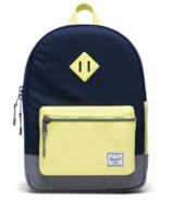 Herschel Supply Heritage Youth Backpack Peacoat & Grey Crosshatch