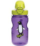 Nalgene 12 Ounce On the Fly Kids Bottle Purple with Penguin Art