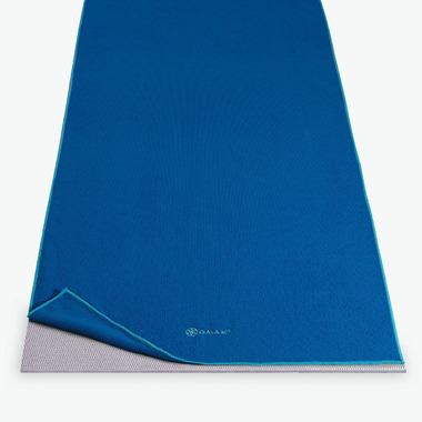 Gaiam Thirsty Yoga Mat Towel Blue & Teal