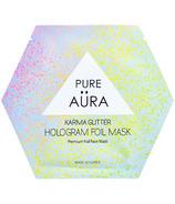 Pure Aura Karma Glitter Hologram Foil Sheet Mask