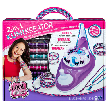 Cool Maker 2-in-1 KumiKreator Necklace and Friendship Bracelet Maker Kit