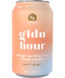 Gldn Hour Collagen Sparkling Water Peach Ginger