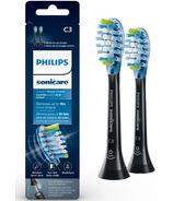 Philips Sonicare Premium Plaque Control 2pack Brush Heads Black