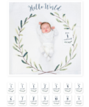 Lulujo Baby's 1st Year Hello World Wreath