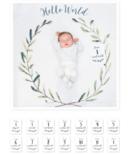 Lulujo Baby's 1st Year Hello World Wreath