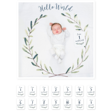 Lulujo Baby\'s 1st Year Hello World Wreath