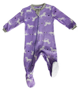ZippyJamz Footed Organic Cotton Sleeper Unicorns Are Real