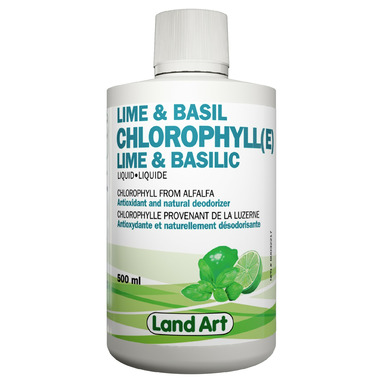 Land Art Lime & Basil Chlorophyll Liquid