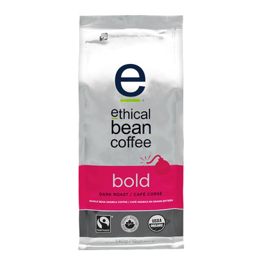 Ethical Bean Coffee Bold Dark Roast Whole Bean Coffee