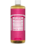 Dr. Bronner's Organic Pure Castile Liquid Soap Rose 32 Oz