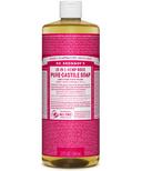 Dr. Bronner's Organic Pure Castile Liquid Soap Rose 32 Oz