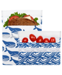 Lunchskins Reusable Bag Set Whale