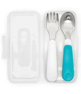 OXO Tot On the Go Fork & Spoon in Travel Case Teal