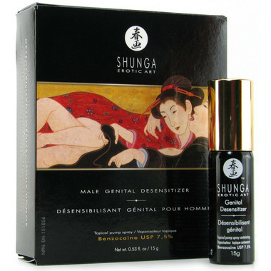 Shunga Male Genital Desensitizer Benzocaine Spray