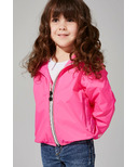 O8 Lifestyle Kid's Full Zip Packable Jacket Pink Fluo