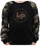L&P Apparel Cotton Crew Neck Sweatshirt Black & Camo