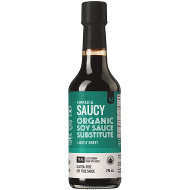 Naked & Saucy Coconut Aminos Lightly Sweet Soy Sauce Substitute