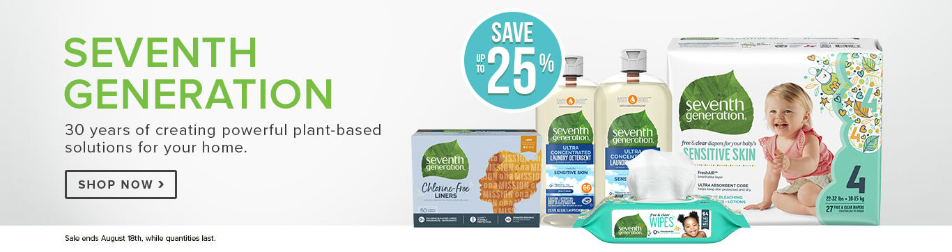 Save up to 25% off Seventh Generation