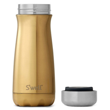 S\'well Traveler Stainless Steel Wide Mouth Bottle Yellow Gold